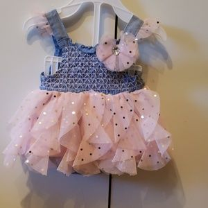 Pink and blue baby dress